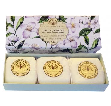 The English Soap Company - Handseifen Geschenkbox - White Jasmine & Sandalwood
